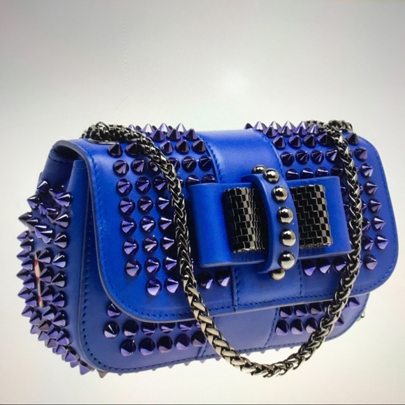 e3a3ccf49f8 Christian Louboutin mini spiked Sweet charity Bag.